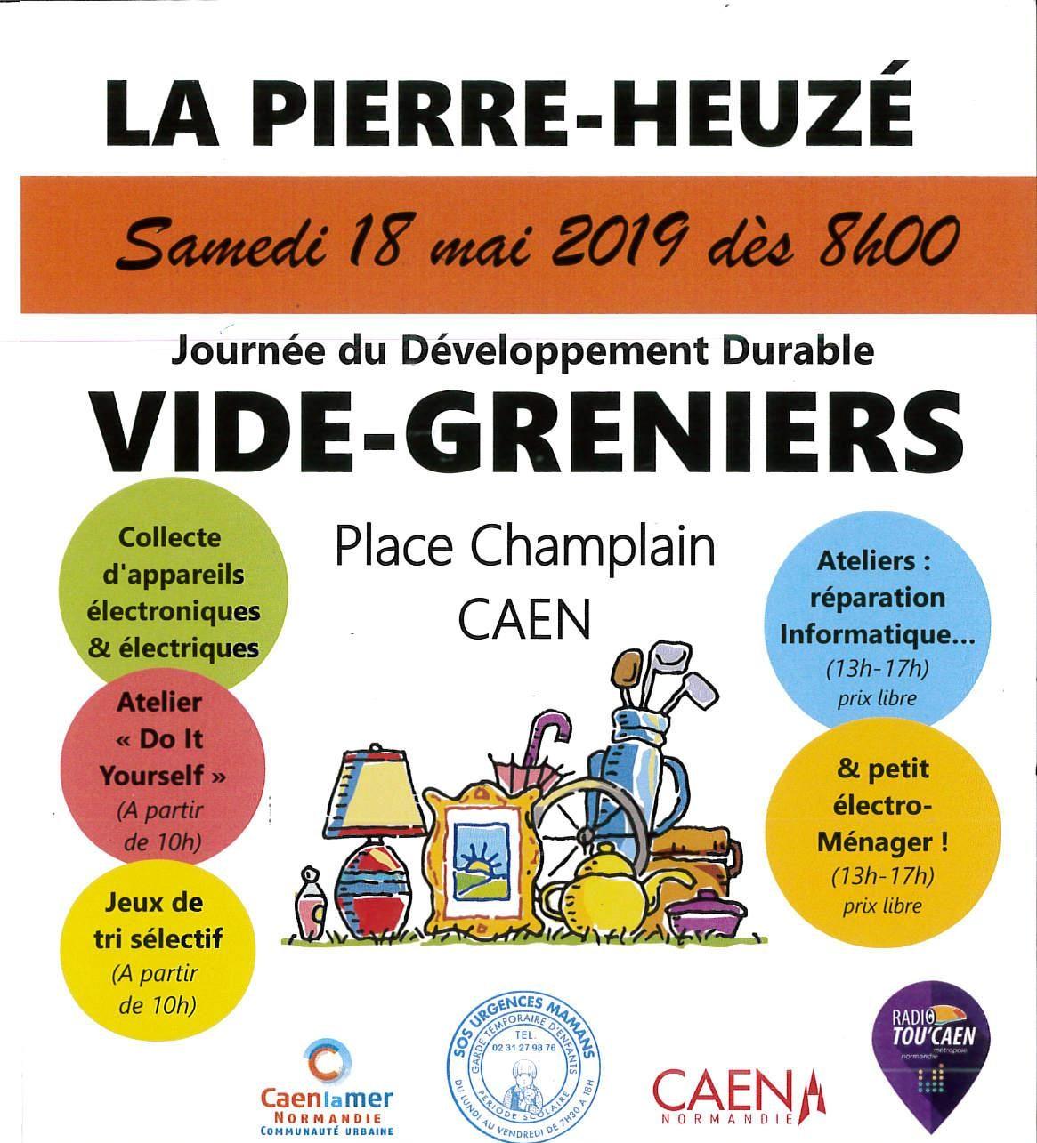 Radio TOU'CAEN au coeur du vide-grenier de la Pierre-Heuzé